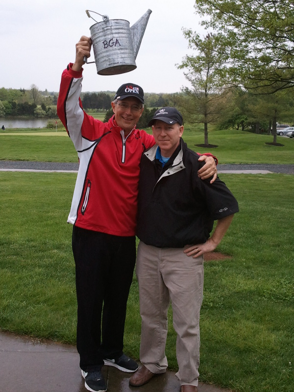 Frank Mejia is your 2013 Water Can Classic Champion!!! - Shown here with the his name, Sharpie inscribed on the Water Can trophy presented by tournament host Jim Frenette on the right.